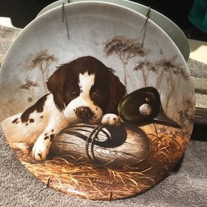 """1987 Collectible Plate """"The Springer Spaniel"""""""